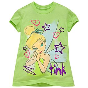 Glitter Tinker Bell Tee for Girls -- Made With Organic Cotton