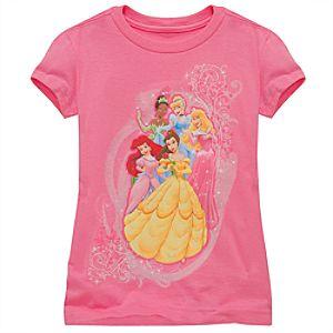 Organic Glitter Disney Princess Tee