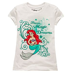 Organic Theres Magic in Dreams Ariel Tee for Girls