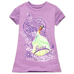 Purple Princess Tiana Tee -- Made With Organic Cotton