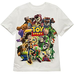 Organic Collage Toy Story Tee for Boys