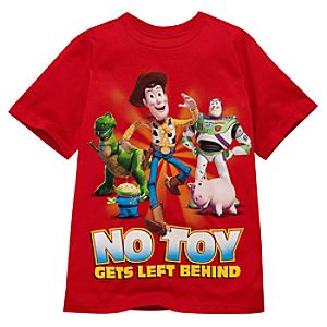 Organic No Toy Gets Left Behind Toy Story Tee for Boys