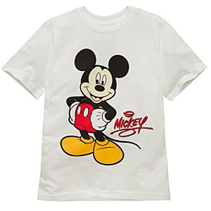 Organic Autograph Mickey Mouse Tee for Boys