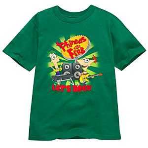 Organic Lets Rock Phineas and Ferb Tee