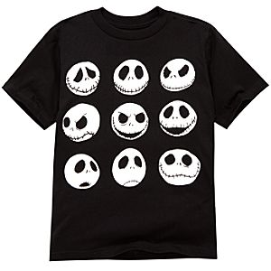 Organic Faces of Jack Skellington Tee
