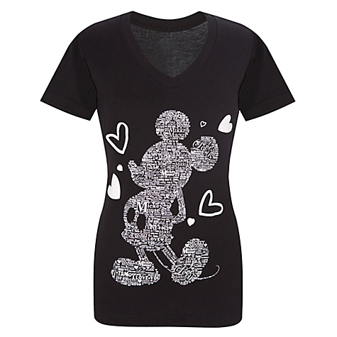 Organic V-Neck I Love Mickey Mouse Tee