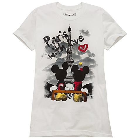 Organic ''Paris with love'' Minnie and Mickey Mouse Tee