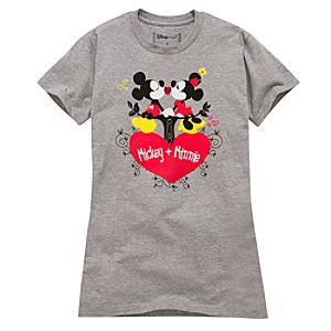Organic Nostalgic Art Minnie and Mickey Mouse Tee