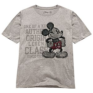 Distressed Mickey Mouse Tee for Adults -- Made With Organic Cotton