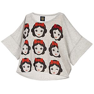 Dolman Sleeve Rhinestone Snow White Top by Disney Couture