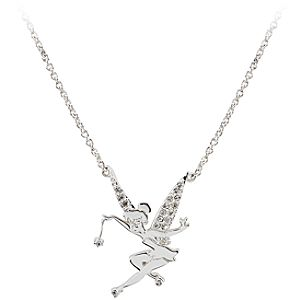 Silver Tinker Bell Necklace by Disney Couture