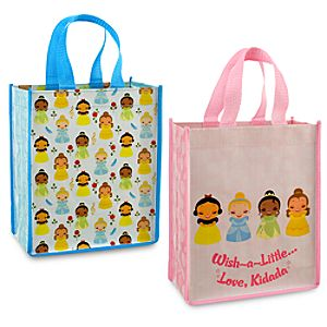 Kidada for Disney Store Wish-a-Little Disney Princess Reusable Totes -- 2-Pc.