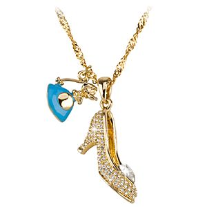 Kidada for Disney Store Cinderella Crystal Pendant Necklace