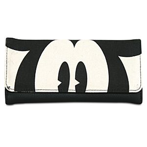 Canvas Pie-Eyed Mickey Mouse Wallet
