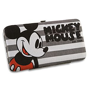 Canvas Mickey Mouse Wallet