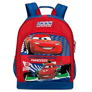 Cars 2 Lightning McQueen and Francesco Backpack