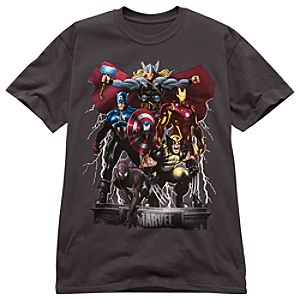 Thor Lightning Storm Marvel Heroes Tee for Men