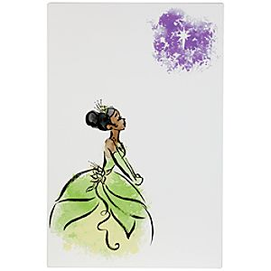 D23 Membership Exclusive Tiana Gallery Wrapped Canvas