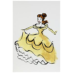 D23 Membership Exclusive Belle Gallery Wrapped Canvas