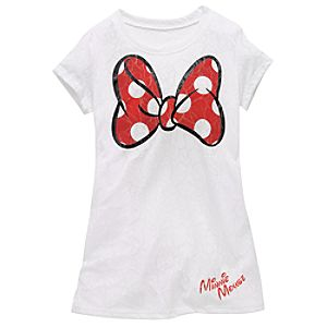Burnout Bow Minnie Mouse Tee for Older Girls
