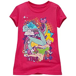 Rainbow Tinker Bell Tee for Girls -- Made With Organic Cotton