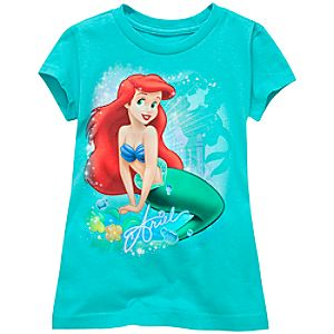 Glitter Ariel Tee for Girls -- Made With Organic Cotton