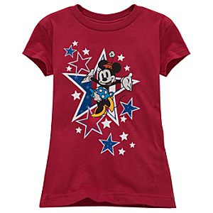 Organic All-American Minnie Mouse Tee for Girls