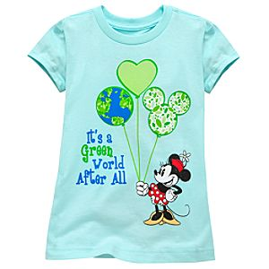 Organic Earth Day Minnie Mouse Tee for Girls