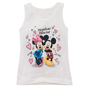 Organic Glitter Minnie and Mickey Mouse Tank Top for Girls