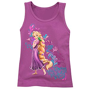 Organic My Dreams My Way Rapunzel Tank Top for Girls