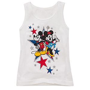 Organic Americana Minnie and Mickey Mouse Tank Top for Girls