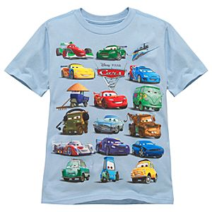 Organic Line Up from Cars 2 Tee for Kids