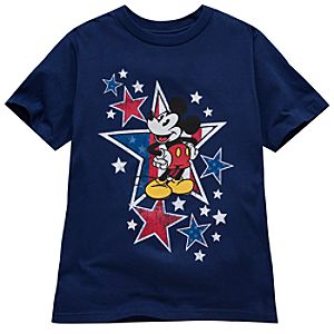 Organic Americana Mickey Mouse Tee for Boys