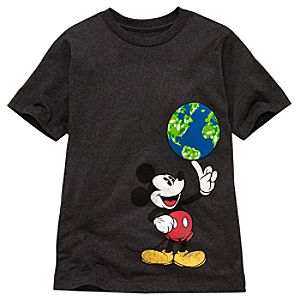 Organic Earth Day Mickey Mouse Tee for Kids