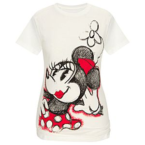 Organic Glamour Minnie Mouse Tee for Women