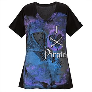 Organic V-Neck Heartthrob Pirates of the Caribbean Tee for Women