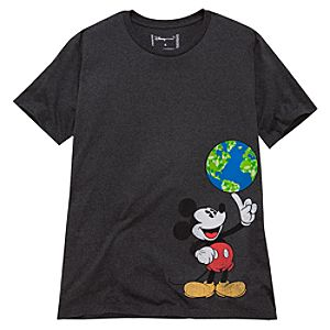 Organic Earth Day Mickey Mouse Tee for Men