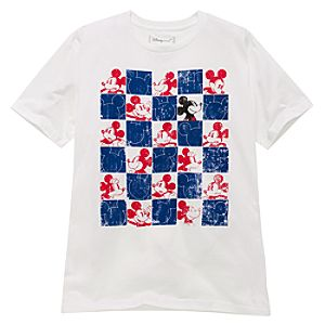 Organic Squared Mickey Mouse Tee for Men