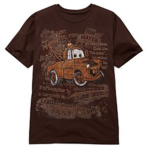 Tow Mater Cars Tee for Men -- Made With Organic Cotton