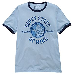 Sensibly Senseless Ringer Dopey Tee for Men -- Made With Organic Cotton