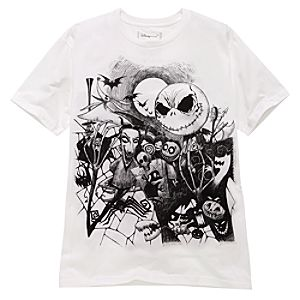 Organic Halloween Town The Nightmare Before Christmas Tee for Men