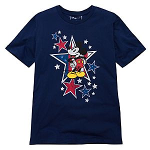 Organic Americana Mickey Mouse Tee for Men