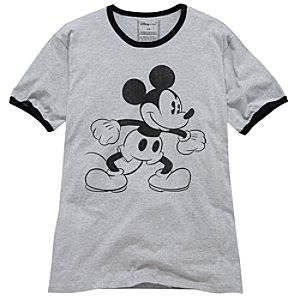 Organic Ringer Mickey Mouse Tee for Men
