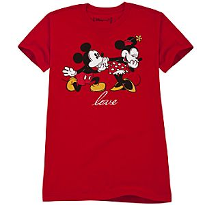 Love Minnie Mouse and Mickey Mouse Tee for Women