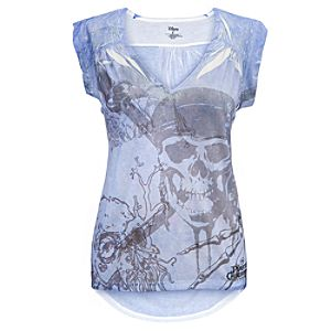 Skull and Swords Pirates of the Caribbean Tee for Women