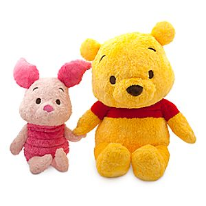 Winnie the Pooh and Piglet Anime Plush Set - Extra Large - 28