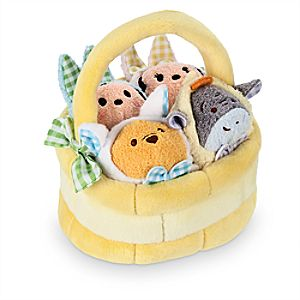 Disney Tsum Tsum Plush Mini Easter Basket Set