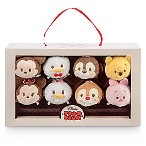 Mickey Mouse and Friends Valentine Candy Box Tsum Tsum Plush Set - Mini - 3 1/2