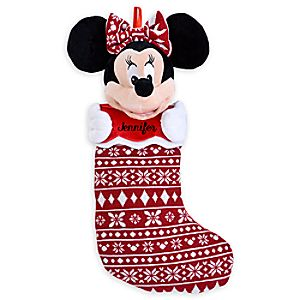 Minnie Mouse Plush Holiday Stocking - Personalizable - 22