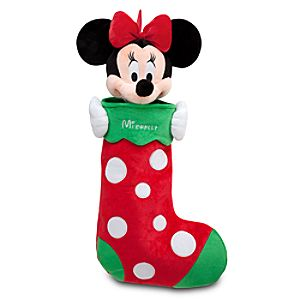 Minnie Mouse Plush Stocking - Holiday - Personalizable